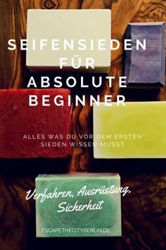 Seife sieden für Anfänger - Grundausstattung und Sicherheit This article is for those who are thinking of making their own soap - and have absolutely no idea!
