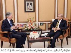 British Foreign Minister Philip Hammond meets Punjab Chief Minister