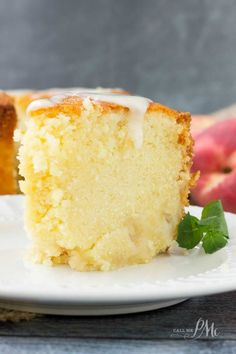 Two Step Fresh Peach Pound Cake Recipe is rich, moist and full of fresh, sweet peaches.