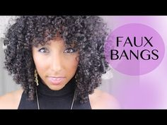 How to Create Faux Bangs for Curly Hair!   BiancaReneeToday