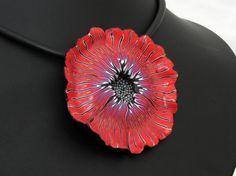 Feen Blüte aus handgefertigten Polymer Clay, Halskette  Millefiori, Millefleur,  Fimo