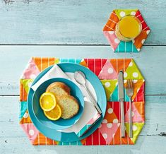 colorful place mats!