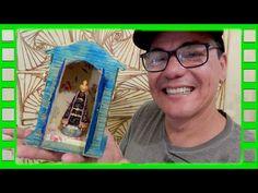 Aprenda a fazer Oratório com papelão! (Diy) - YouTube Baseball Cards, Youtube, Diy, Make Art, Craft, Fabric, Bricolage, Diys, Handyman Projects