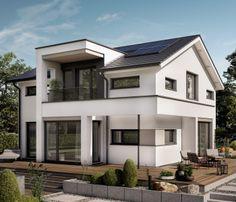 Modernes haus mit pool  Design-Haus mit Satteldach - Einfamilienhaus Concept-M 166 Bien ...