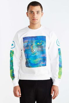 Digital Attraction Crew Neck Sweatshirt - Urban Outfitters