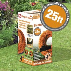 Stretch Hose - The amazing expandable Stretch Hose water hose that expands up to three times its original length. Water Hose, See On Tv, Tangled, Garden, Compact, Times, Garten, Rapunzel, Lawn And Garden