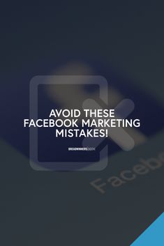 Facebook is a great place to connect to people and the most profitable marketing platform today. With this, we have to be very careful not to perceive social media in the wrong way or else it can become really dangerous to our brand. Here are the Facebook mistakes everyone should avoid.  #Facebook #MarketingMistakes #DigitalMarketing Facebook Marketing, Digital Marketing, Mistakes, Connect, Platform, Social Media, Education, Learning, People