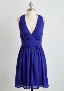 Real Sample Sleeveless Short Royal Blue Chiffon Bridesmaid Dress