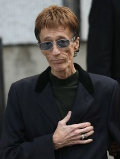 Designer suit and ring #BeeGees #RobinGibb