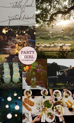 lemonade jars + share plates + photo collage + invite typeface