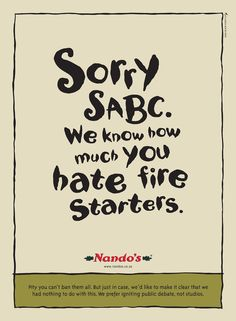 Nando's takes dig at SABC after studio fire - Memeburn