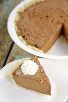 Chocolate Dream Pie is a quick, easy, and simple chocolate pie recipe with…