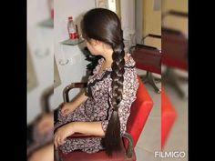 Indian Braids, Indian Long Hair Braid, Braids For Long Hair, Hair Oil, Braided Hairstyles, Wrap Dress, Long Hair Styles, Youtube, Dresses