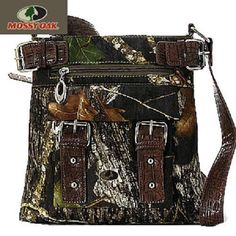 CAMO MOSSY OAK WESTERN COWGIRL BUCKLE MESSENGER CROSS BODY BAG PURSE BROWN #MOSSYOAK #MessengerBag