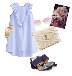Designer Clothes, Shoes & Bags for Women Salvatore Ferragamo, Yves Saint Laurent, Michael Kors, Shoe Bag, Summer, Polyvore, Blue, Stuff To Buy, Shopping
