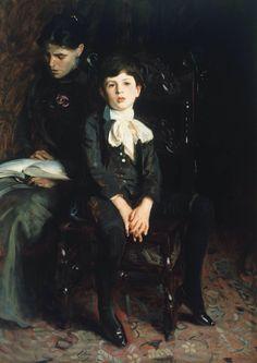 Homer Saint-Gaudens and his Mother, 1890. John Singer Sargent