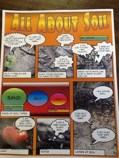 Get your hands dirty with this comic - All About Soil!   #Science #Geology