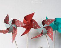 12 Mini Pinwheels / Carnival
