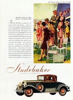 Studebaker President Eight Convertible 1929 - Mad Men Art: The 1891-1970 Vintage Advertisement Art Collection