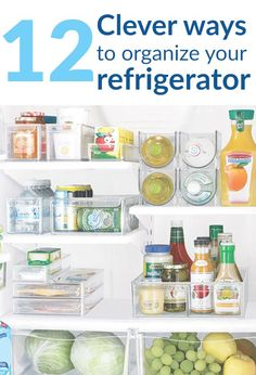 Fridge organizing ideas. Writing contents of freezer with wipe off marker on the inside? Just might try this one!