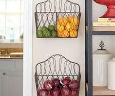 House ideas / magazine racks as produce holders #kitchen storage