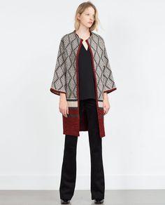 Image 1 of JACQUARD COAT from Zara