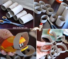 toliet paper roll snowflake, can keep going to make bigger