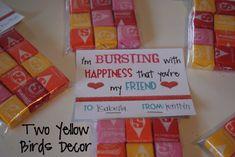 Two Yellow Birds Decor: School Valentine's Treats