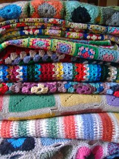 Crochet and knitted blankets. Some new, some vintage... all loverly!