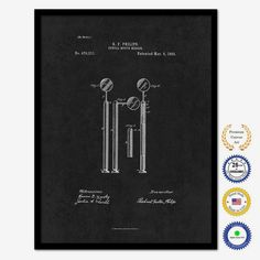 The uniquely designed '1892 Dentist Dental Mouth Mirror Vintage Patent Artwork' Framed Drawing Print on Canvas is the perfect gift or classic update to any home or office space. An excellent addition…MoreMore  #PatentArtwork