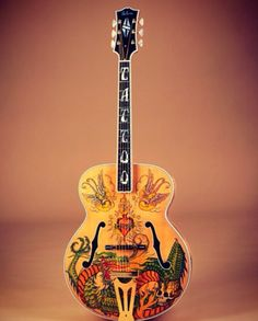 Tattoo guitar - designed for Gibson by Bruce Kunkel