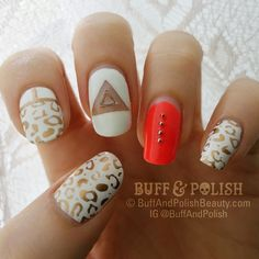 Funky Leopard Nails in White and Gold Leopard Nail Designs, Leopard Print Nails, Dotting Tool, Nail Plate, Gel Designs, Stamping Plates, Print Design, At Least