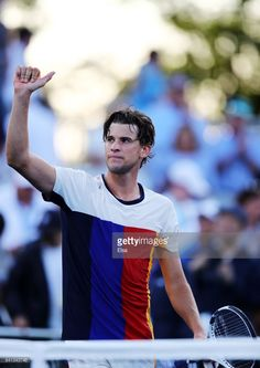 Dominic Thiem of Austria celebrates after defeating Taylor Fritz of the United States during their second round Men's Singles match on Day Four of the 2017 US Open at the USTA Billie Jean King National Tennis Center on August 31, 2017 in the Flushing neighborhood of the Queens borough of New York City.