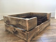 Rustic Reclaimed Wood Dog/Cat Pet Bed-Dog crate-Cat by 3DriftsAway