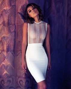 """The Mira bodysuit + the Sorcha skirt Shop:houseofcb.com"""