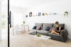 Amir NavonandMaayan Zusman employ space-saving tricks for tight Tel Aviv apartment