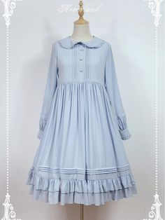 Empire Waist Long Sleeves OP Lolita Dress - Rose Mary by Souffle Song  SKU: NL-471  $89.00  $77.00