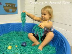 sensory play (but use shredded paper and sensory fun objects)