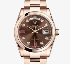I've never coveted a Rolex before but this one - this one I want: Oyster Perpetual Datejust, 36mm, Everose gold Day-Date Watch