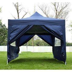 Garden Heavy Duty Pop Up Gazebo Marquee Party Tent Wedding Canopy Blue Gazebo Tent, Gazebo Plans, Canopy Outdoor, Canopy Tent, Tents, Wooden Gazebo, Outdoor Shelters, Hot Tub Garden