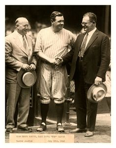 A Meeting Of Legends In Their Own Time - Knute Rockne, Babe Ruth & Pop Warner (Yankee Stadium - July 19, 1928). As you'd might expect, Babe's response to this legendary meeting was to hit 2 HR's vs. the White Sox that afternoon.