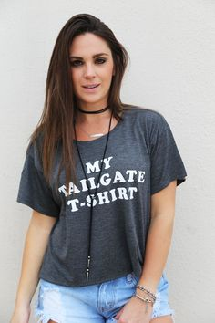 My Tailgate T-Shirt Crop Top - The Rage - 1