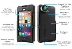 Show details for Hitcase - Hitcase Pro+ - Action Camera Phone Case for iPhone Iphone 5s, New Iphone, Apple Iphone, Iphone Cases, 5s Cases, Camera Case, Camera Phone, Apple Watch, Ipod