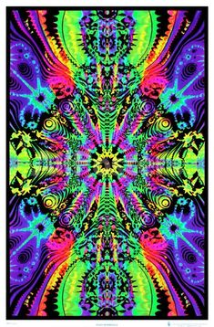 23 x psychedelic black light poster. Down the wormhole optical illusion black light poster. Poster On, Poster Prints, Art Prints, Art Posters, Hippie Posters, Black Light Posters, Psy Art, Hippie Art, Hippie Shop