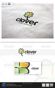 Four Leaf Clover Logo — Photoshop PSD #nature #ireland • Available here → https://graphicriver.net/item/four-leaf-clover-logo/5983028?ref=pxcr
