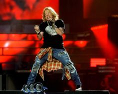 Guns N' Roses frontman Axl Rose performs during their 'Not In This Lifetime' stadium tour in Pittsburgh, Tuesday July 12 at Heinz Field.  — Jack Fordyce