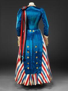 Patriotic Dress Costume, ca. 1890-1895