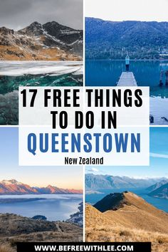 Queenstown New Zealand can be an expensive place to visit. Mainly because of all of the tourism activities on offer like bungy jumping, sky diving etc. But it is possible to visit and spend little money! In this article discover 17 free things to do in Queenstown to add to your New Zealand travel itinerary! There really are endless places to explore in New Zealand South Island but I highly recommend stopping by Queenstown! New Zealand Itinerary, New Zealand Travel Guide, Visit Australia, Australia Travel, Amazing Destinations, Travel Destinations, Travel Guides, Travel Tips, North Island New Zealand