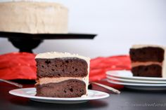 Cinnamon Devils Food Cake w/ Caramel Cinnamon Cream Cheese Frosting