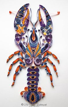 Lobster - quilled by: Stacy Bettencourt - Mainely Quilling